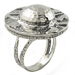 Beverly Hills Charm Silver Antique-style Fashion Ring