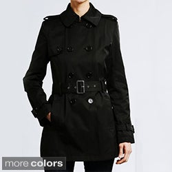Tommy Hilfiger Women's Double-breasted Cotton Trench Coat