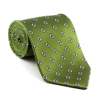 Platinum Ties Men's Patterned 'Green Clover' Tie