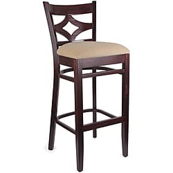Diamond Back Dark Mahogany/ Tan Bar Stool