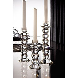 Fifth Avenue Crystal Prism Candle Holders (Set of 3)