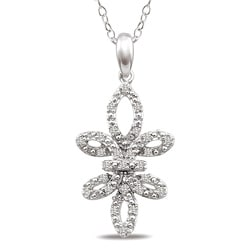 M by Miadora Sterling Silver 1/4ct TDW Diamond Necklace (H-I, I3)