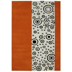 Alliyah Handmade Rust Abstract New Zealand Blend Wool Rug (8' x 10')