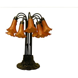 Indoor Lily 12-light Bronze Table Lamp