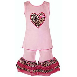 Ann Loren Girl's 2-piece Tank and Capri Set