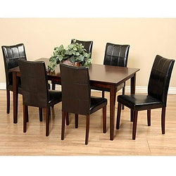 Eveleen Black 7-piece Dining Furniture Set