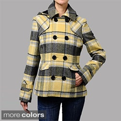 Maralyn &amp; Me Hooded Wool-blend Peacoat