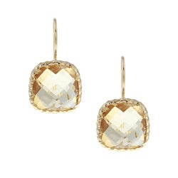 Zoe B 14k Gold over Sterling Silver Citrine Earrings