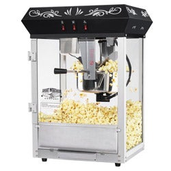 Great Northern Popcorn Black 8-oz Foundation Popcorn Machine Top