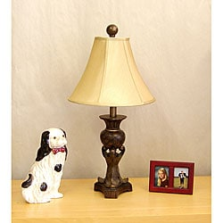 Indoor 1-light Burl Font Table Lamp