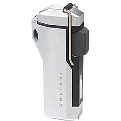 Colibri 'Summit' Silvertone and Black Jet Flame Lighter