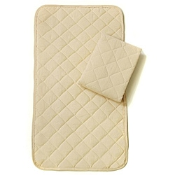 Natural Cotton Waterproof Bassinet Pads (Pack of 2)