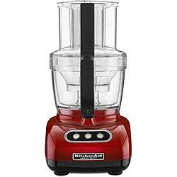 KitchenAid RKFP750CA Candy Apple Red 12-cup Food Processor/ 2 Bowls (Refurbished)