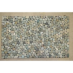 Green Mist River Rock Doormat (28' x 20')