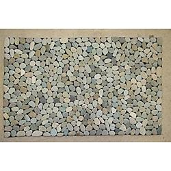 Green Mist River Rock Doormat (28' x 20')