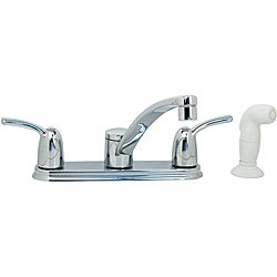 Moen Chrome Double-handle Kitchen Faucet With Pull-out Spray
