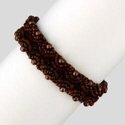 Glass Corina Espresso Beaded Bracelet (Guatemala)