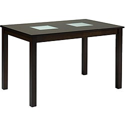 Farrington Dark Brown Wood Modern Dining Table