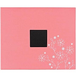American Crafts Raspberry Embroidery Patterned 3-Ring Album (12x12)