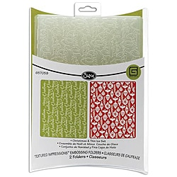 Sizzix Textured Impressions 'Christmas and Thin Ice' Embossing Folders (Pack of 2)