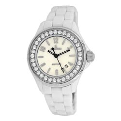 Le Chateau Persida LC Women's Ceramic Mother of Pearl Dial Watch