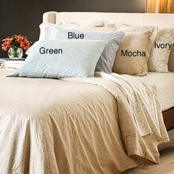 Reflections Tear Drop Cotton Sateen 300 Thread Count Queen-size Sheet Set