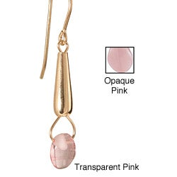 'Pleasently Pink Rose Petal' 14k Gold Fill Earrings