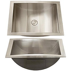 Com shopping great deals on premier copper products bathroom sinks - Ticor Stainless Steel 18 Gauge Overmount Bathroom Sink