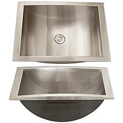ticor stainless steel 18 gauge overmount bathroom sink 13394272