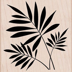 Hero Arts 'Three Ferns' Wood Stamp