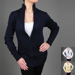 Pierre Women's Zipper Front Cardigan