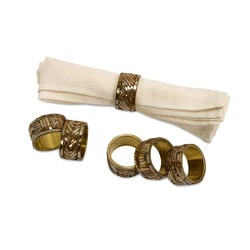 Regent Sequoia Napkin Rings (Set of 6)