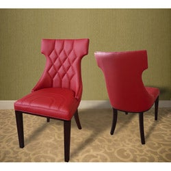 Regis Leather Dining Chairs (Set of 2)
