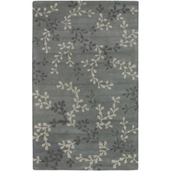 Hand-tufted Painterly Grey Wool Rug (3'3 x 5'3)