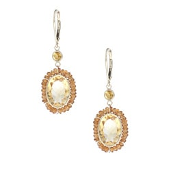 Zoe B 14k Gold Citrine Dangle Earrings