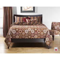 Rockin' Around Full-size Reversible Duvet Cover and Insert Set