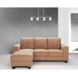 EuroDesign Microfiber Fabric Sofa and Ottoman