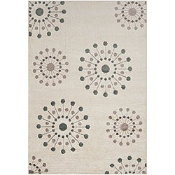 Hand-tufted Ivory Contemporary Medallion Rug (7'9 X 11'2)