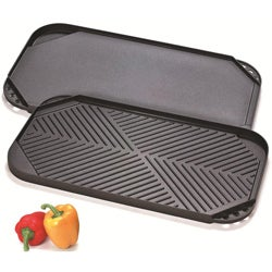Cook N Home Nonstick Aluminum Double Burner Reversible Griddle
