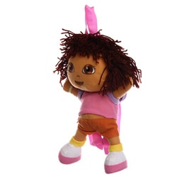 Nickelodeon DE12346-SC-MU Dora The Explorer 10-inch Kid&#39;s Plush Mini Backpack