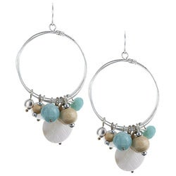 Alexa Starr Amazonite and Shell Hoop Earrings