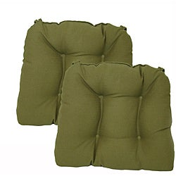 Isle of Palms Moss Kitchen/ Dining Chair Pads (Set of 2)