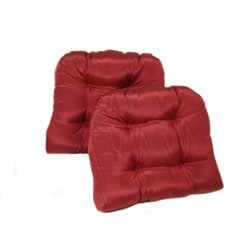 Pearlescent Red Kitchen/ Dining Chair Pads (Set of 2)