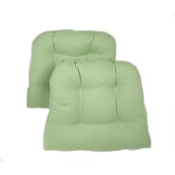 Pistachio Kitchen/ Dining Chair Pads (Set of 2)
