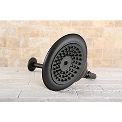 Oil Rubbed Bronze Vintage Bell 6-in Shower Head with Shower Arm