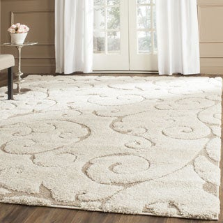 Hand-woven Ultimate Cream/ Beige Shag Rug (5&#39;3 x 7&#39;6)