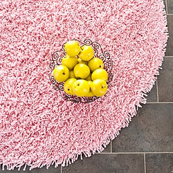 Safavieh Classic Ultra Handmade Pink Shag Rug (4' Round)