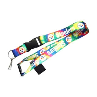 Pittsburgh Steelers Camo Tie Dye Clip Lanyard Keychain Id Ticket Holder