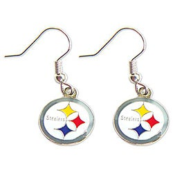 Pittsburgh Steelers Dangle Logo Earring Set