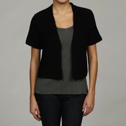 Vivienne Vivienne Tam Women's Short Sleeve Cropped Cardigan